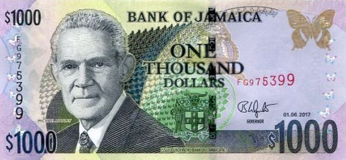 P86m Jamaica 1000 Dollars Year 2017